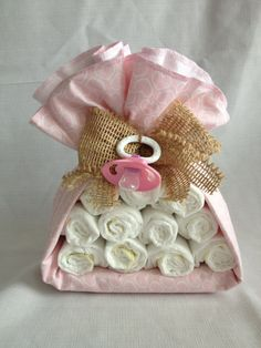 Stork Diaper Bundle Shabby Chic Pink by TheKraftyKornerbyKim