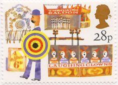British Fairs - 28p  1983. Designed by Andrew Restall DA.