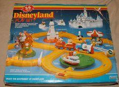 Vintage Disneyland Playset - my little bro got this from Santa one year. So much fun!