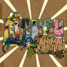 Animal Kingdom Characters - MouseScrappers - Disney Scrapbooking Gallery