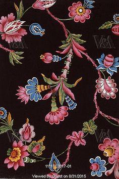 Floral textile design, Mulhouse Pattern Book. France, 19th century.