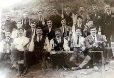(Photo courtesy Utah State Historical Society)A group of Greek immigrants are seen with handguns and wine. Date unknown. Ap Us History, Independent News Sources, History Projects, Antique Bottles, Historical Society, Lightning, Utah, Photo Galleries, Greeks