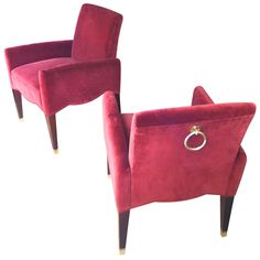 Olivier Gagnere model marly pair of chairs
