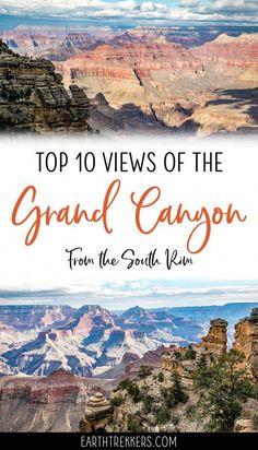 16 Amazing South Rim Viewpoints in the Grand Canyon The best South Rim Views of the Grand Canyon. There are dozens of viewpoints to choose from on the 32 miles of road that stretches along the Grand Canyon Vacation, Grand Canyon Village, Visiting The Grand Canyon, Grand Canyon South Rim, Grand Canyon Arizona, Grand Canyon Rv Parks, New Orleans, New York, Have A Great Vacation