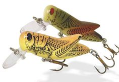 The Rebel Lures Crickhopper   is a pond and stream angler's dream. This productive fishing lure resembles crickets and grasshoppers during different stages of the year and can be used as a top water lure or as a crankbait. Perfect for panfish, trout, smallmouth bass, and largemouth bass fishing.