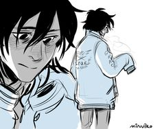 """gamerpyrope: """"highschool AU where Jason gives Nico his letterman and Nico's like what is this but he ends up wearing it anyways (人´∀`*) """" uwu"""