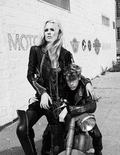 Biker Babe Fashion. Motorcycle. Leather. Style.