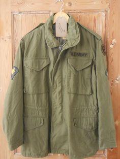 Vintage M65 Vietnam Feld Jacke US Army 1970er Jahre Buzz Rickson Größe XS