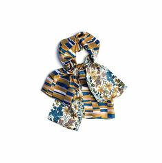 Silk oblong scarf Liberty Edna floral and by CBanningAccessories