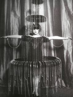 """""""Fountain"""" costume designed by Paul Poiret, early 1900s."""