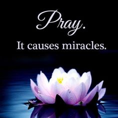 Pray. It causes miracles.