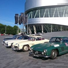 Absolutely amazing! So many Mercedes 300 SL in front of our Mercedes-Benz Museum in Stuttgart - Photo by @daniel.przygoda  #Mercedes #Benz #MercedesBenz #w198 #300SL #Stuttgart #Museum #untertürkheim #retro #classic #Gullwing #historic #luxury #lifestyle #thebestornothing #highlight