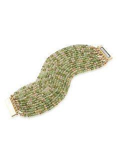 ABS by Allen Schwartz Jewelry Vibrant Vibes Multi-Row Beaded Bracelet