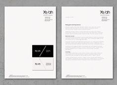 Ye/ah identity concept on Behance by M. Henneberg-Johansen
