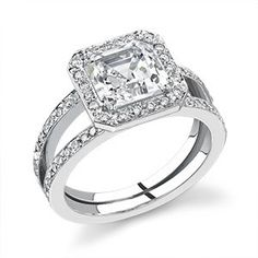 """Asscher cut engagement rings are sometimes referred to as """"square emerald cut"""", they've greatly trimmed corners almost like an octagon which includes a particular exceptional sparkle. http://www.weddingringsetss.com/engagement-rings/asscher-cut-engagement-rings"""