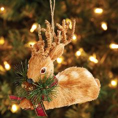 Sitting Deer Ornament | Pier 1 Imports