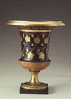Manufacture de Dagoty   Vase  Provenant de Madame Récamier Porcelaine dure