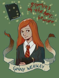 Ginny Weasley - Supporting character from Harry Potter and the Chamber of Secrets - artistic creator, Breanna-Ivy Harry Potter Anime, Harry Potter Fan Art, Gina Harry Potter, Fans D'harry Potter, Mundo Harry Potter, Harry Potter Drawings, Harry Potter Characters, Harry Potter Universal, Harry Potter Memes