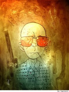 Hunter S. Thompson by Ben Templesmith - a ridiculously talented artist.