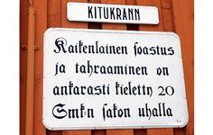 Vanhan Rauman kuulisimpia kujia on Kitukränn.   Kuva: Heikki Saukkomaa/Lehtikuva Finland, Houses, Interiors, Eye, Places, Nature, People, Beauty, Soap