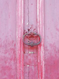 """Door Knocker in Provence, France"" by Mich Lancaster on Flickr - Pink Door in Provence, France"
