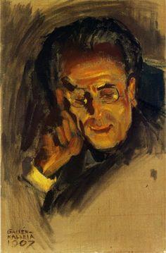 Akseli Gallen-Kallela. Portrait of Gustav Mahler 1907