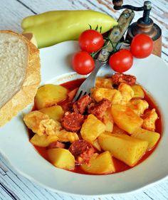 Tanyasi egytál papától   Rupáner-konyha Pork, Food And Drink, Ethnic Recipes, Sweet, Kale Stir Fry, Candy, Pork Chops