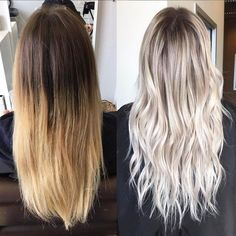 Bouncy Waves - 40 Ash Blonde Hair Looks You'll Swoon Over - The Trending Hairstyle Ash Blonde Balayage, Icy Blonde, Blonde Hair With Dark Roots, Brown To Blonde Hair Before And After, Silver Blonde Ombre, Cool Toned Blonde Hair, Winter Blonde Hair, Brunette To Blonde, Blonde Hair Looks
