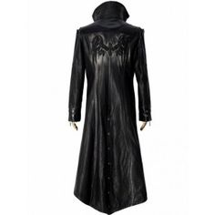 Charcoal Ebb Long Leather Coat for Men Mens Leather Coats, Long Leather Coat, Men's Leather Jacket, Black Leather, Leather Jackets, Trent Coat, Gothic Fashion, Mens Fashion, Kinds Of Clothes