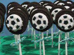 Soccer oreo pops for boys birthday! So easy to make.