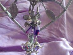 Perles en fimo et metal argenté Modèle unique