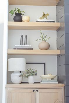 Interior Design Inspiration, Home Decor Inspiration, Small Lamps, Outdoor Coffee Tables, White Table Lamp, Oak Cabinets, Decorating Your Home, Floating Shelves, Decor Styles