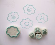 Cloud emotion rubber stamp set! so cute  #Undefined
