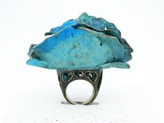 Artistic Turquois Gingko biloba Ring Gift Leaf Blue Statement Ring One Kind Teal Boho Ring Bronze Jewelry Art Art Nouveau Statement Jewelry Bronze Jewelry, Jewelry Art, Jewelry Accessories, One Ring, Boho Rings, Statement Jewelry, Turquoise Bracelet, Silver Rings, Artist