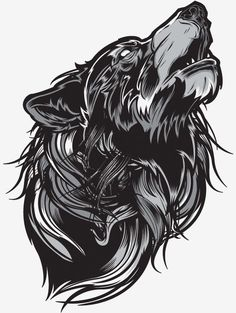 Awesome Grayscale Vector Illustration