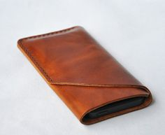 For iPhone 5, 4s/4 Leather Case, Handmade Phone Sleeve, iPhone Cover, Custom Leather Phone Case