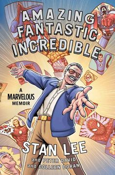 "Read ""Amazing Fantastic Incredible"" by Stan Lee available from Rakuten Kobo. In this gorgeously illustrated, full-colour graphic memoir, Stan Lee - comic book legend and co-creator of Spider-Man, t. Stan Lee, Comic Shop, Marvel Comics, New Books, Books To Read, Library Books, Open Library, Library Card, Writing Comics"