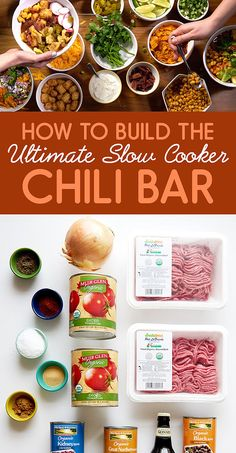 This Slow Cooker Chili Bar Will Make Your Super Bowl And Your Life