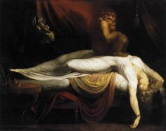 1. Henry Fuseli, The Nightmare, 1781, oil on canvas, 101 x 127 cm, Detroit Institute of Arts. Source