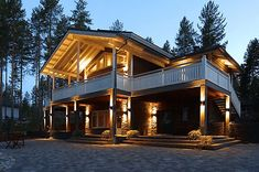 Cottages and Cabins Getaway Cabins, Vash, Log Homes, Mansions, House Styles, Outdoor Decor, Home Decor, Koti, Cottages