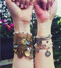 ALEX AND ANI! Mother and Daughter with charmed arms!