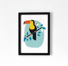 Le Toucan Affiche A4 par oelwein sur Etsy, €19,00
