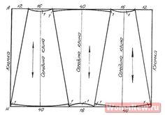 Pattern skirt wedges./Выкройка юбки клиньями.