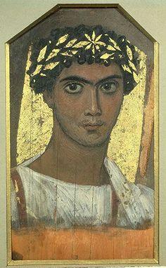 Ritratto del Fayumm.  Secondo Secolo dopo Cristo.  Museo Pushkin di Mosca