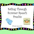 This freebie is part of my larger Sailing Through Summer Speech  activity packet!   You get the Gardening section, which includes: vocabulary cards...