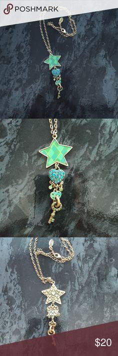 Pilgrim star, heart & key necklace Danish Design Pilgrim Brand charm necklace Pilgrim Jewelry Necklaces