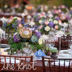 Scottsdale Wedding + Film from Elysium Productions Table Arrangements, Floral Arrangements, Flower Studio, Floral Centerpieces, Protea Centerpiece, Centrepieces, Wedding Table Decorations, Desert Rose, Wedding Film