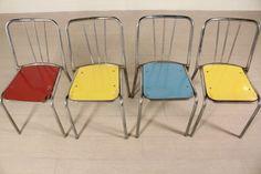 Sedie anni 70 #modernariato #sedie #anni70 #70 #colori #metallo