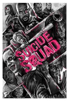 Promotion film poster for the upcoming film, Suicide Squad. Client: Fandango