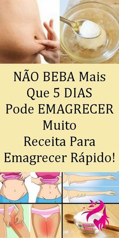 Receita Caseira que Seca Barriga em 4 Dias! Weight Loss Meals, Weight Loss Detox, Easy Weight Loss, How To Lose Weight Fast, Super Healthy Recipes, Healthy Recipes For Weight Loss, Healthy Meals For Kids, Healthy Weight, Fitness Diet